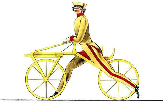 Erfinder des Fahrrads Karl Drais * Radfahren in Wien